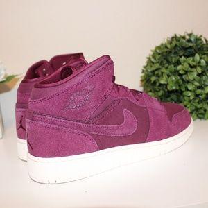 7ef8a422ae5 Nike Shoes - Nike Air Jordan 1 Mid Bordeaux Burgundy Size 8